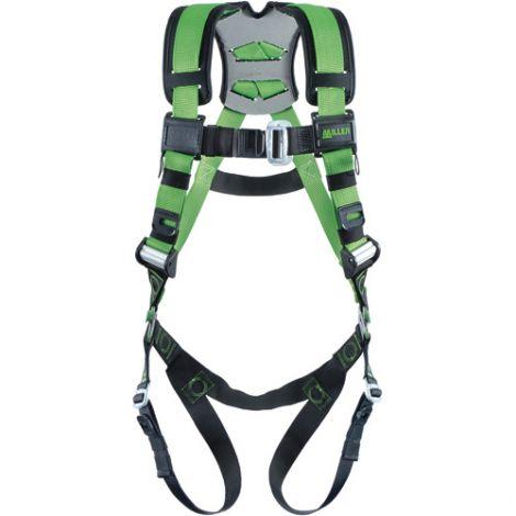 Miller® Revolution™ Construction Harnesses - Tongue Leg Buckles, Removable Belt, Side D-Ring & Pad
