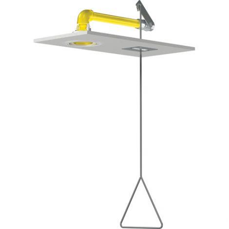 Flush-Mounted Horizontal Supply Emergency Shower Stations - Installation Type: Wall-Mount