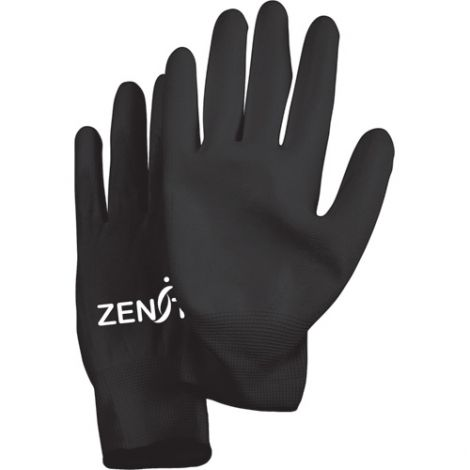 Lightweight Polyurethane Palm Coated Gloves - Size: Small (7) - Colour: Black - Case Quantity: 120