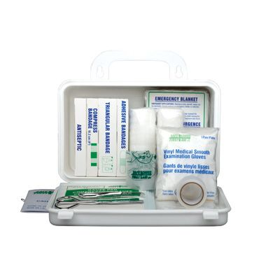 Federal Regulation First-Aid Kit - Kit Type: TYPE C, 20 - 199 WORKERS - Container Type: # 2 Metal