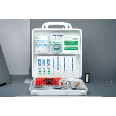Nova Scotia Regulation First Aid Kits - FIRST AID KIT: NO. 3, 20 - 49 WORKERS - Container Type: 24-unit Plastic