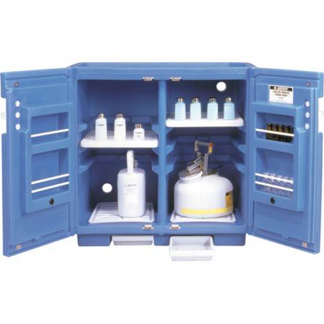 "Polyethylene Corrosive/Acid Cabinet - Capacity: 24 gal. - Width: 36"" - Depth: 25"" - Height: 35"""