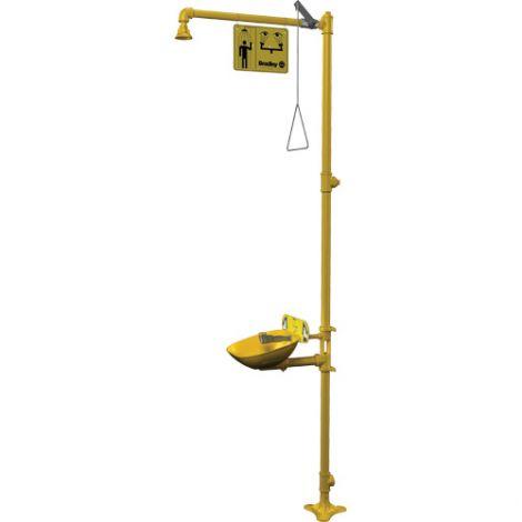 Halo™ Combination Emergency Shower & Eyewash Stations - Installation Type: Pedestal/Shower