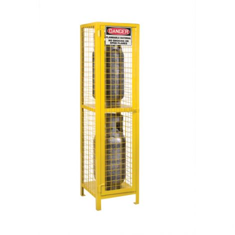 """Gas Cylinder Cabinets - Dimensions: 17""""W x 17""""D x 69""""H - Holds: Liquid Propane (35lbs. Cylinders)"""