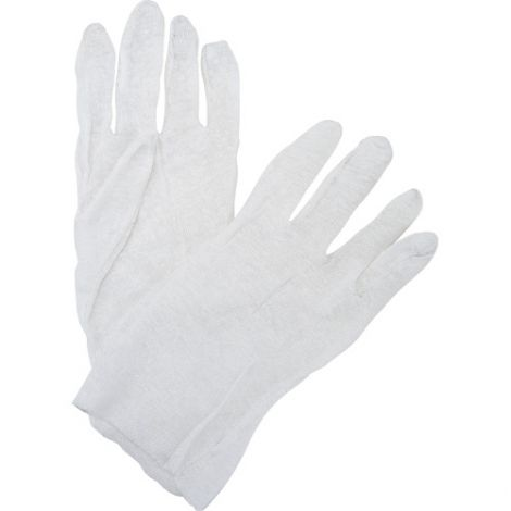 Poly/Cotton Inspection Gloves - Size: Men's - Grade: Lightweight Lisle - Cuff Style: Unhemmed - Case Quantity: 600