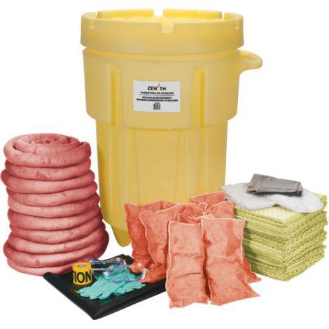 95-Gallon Shop Mobile Spill Kits - Spill Type: Hazmat