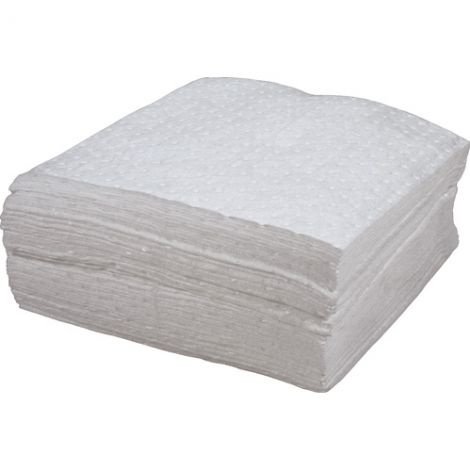 Bonded Sorbent Pads - Oil Only - Weight: Light - Absorbency/Pkg.: 30 Gallons