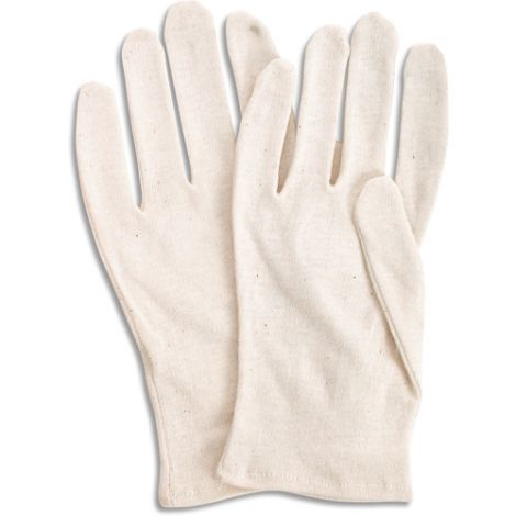 Poly/Cotton Inspection Gloves - Size: Men's - Grade: Medium weight - Cuff Style: Hemmed - Case Quantity: 300