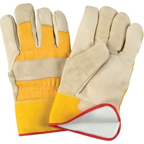 Grain Cowhide Fitters Foam Fleece Lined Gloves - Size: X- Large  - Case Quantity: 24