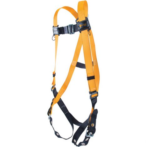 Titan™ Contractor's Harnesses - D-Ring: Back - Shoulder Connections: Mating - Leg Connections: Mating - Chest Connections: Mating