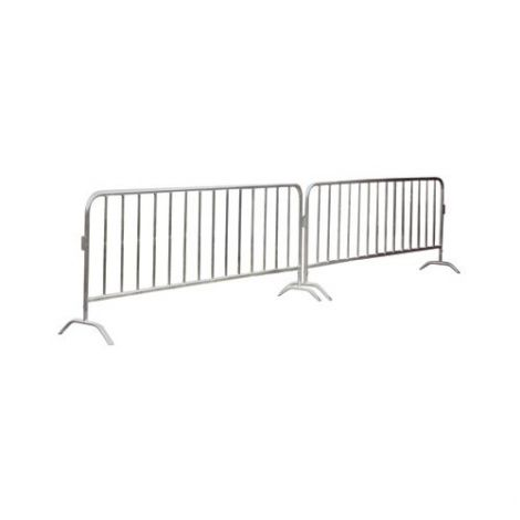 Portable Interlocking Barriers - Finish: Galvanized Finish