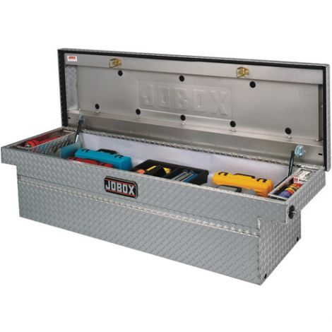 "Crossover Truck Box (Single Lid) - Colour: Silver - Overall Width: 72"" - Overall Depth: 20-1/4"" - Overall Height: 18-7/8"""