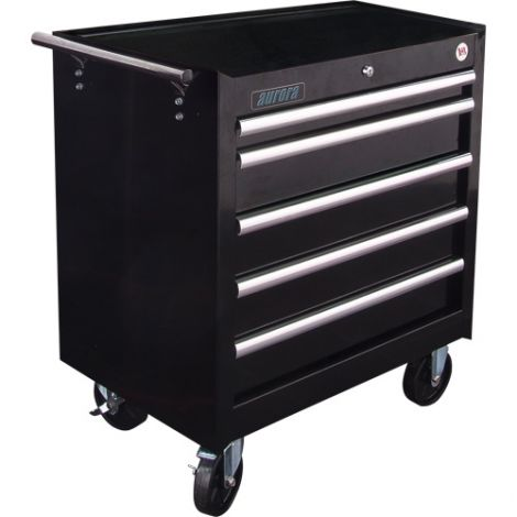 """ATB300 Tool Cart - No. of Drawers: 5 - Colour: Black - Overall Depth: 18-3/4"""" - Overall Width: 27"""""""