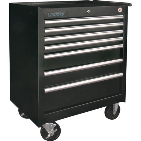"""ATB300 Tool Cart - No. of Drawers: 7 Colour: Black Overall Depth: 18-3/4"""" Overall Width: 27"""""""