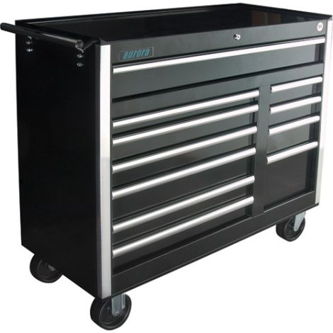 """ATB300 Tool Cart - No. of Drawers: 11 - Colour: Black - Overall Depth: 18-3/4"""" - Overall Width: 42"""""""