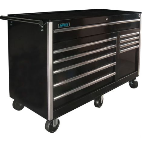 """ATB300 Tool Cart - No. of Drawers: 10 - Colour: Black - Overall Depth: 24-1/2"""" - Overall Width: 56"""""""