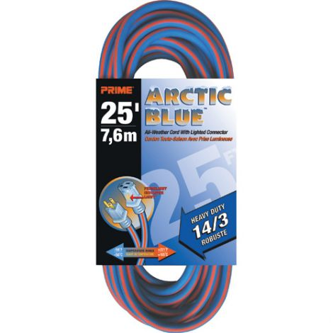 All-Weather Extension Cord - Arctic Blue™ - HEAVY-DUTY - Length: 25' - AWG: 14/3 - Case/Qty: 3