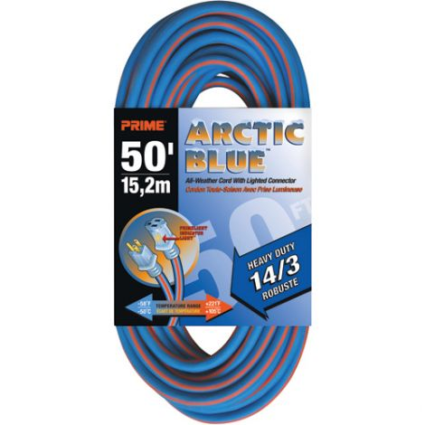 All-Weather Extension Cord - Arctic Blue™ - HEAVY-DUTY - Length: 50' - AWG: 14/3 - Case/Qty: 2