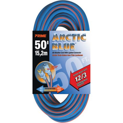 All-Weather Extension Cord - Arctic Blue™ - EXTRA HEAVY-DUTY Length: 50' - AWG: 12/3
