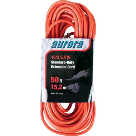 Indoor/Outdoor Standard-Duty Extension Cords - Length: 50' -Case/Qty: 4