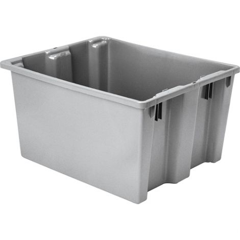 """Polylewton Stack-N-Nest® Containers - Grey - O.D. Top: 24.0""""L x 20.0""""W - Case/Qty: 4"""