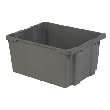 """Polylewton Stack-N-Nest® Containers - Grey - O.D. Top: 30.1""""L x 24.0""""W - Case/Qty: 2"""