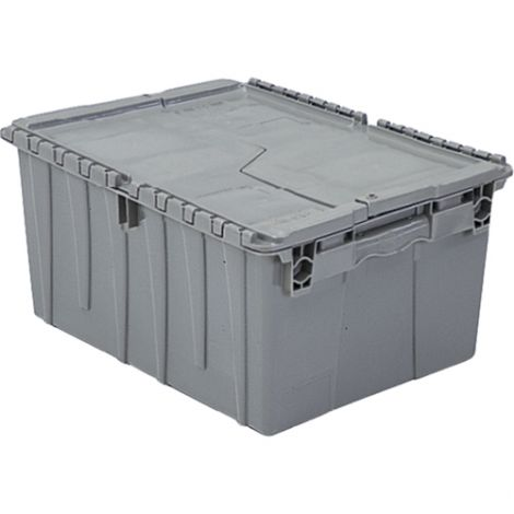 "Flipak® Polyethylene Plastic (PE) Distribution Containers - Outside Dimensions Top: 11.8""L x 9.8""W - Case/Qty: 6"
