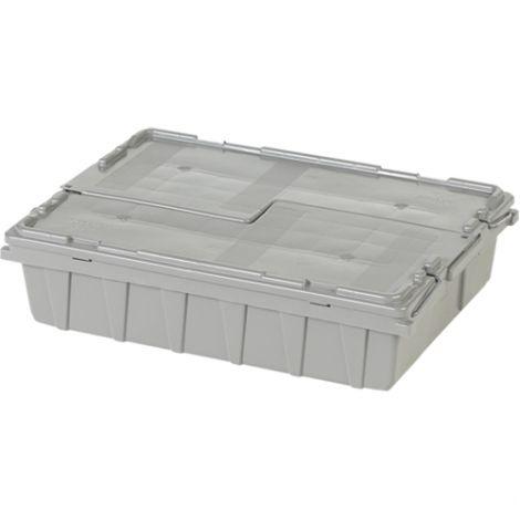 "Flipak® Polyethylene Plastic (PE) Distribution Containers - Outside Dimensions Top: 21.8""L x 15.1""W - Case/Qty: 3"