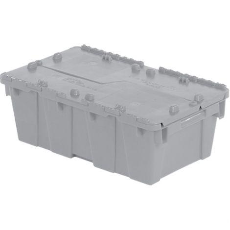 "Flipak® Polyethylene Plastic (PE) Distribution Containers - Outside Dimensions Top: 19.7""L x 11.8""W - Case/Qty: 6"