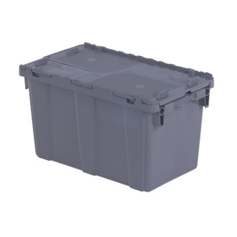 "Flipak® Polyethylene Plastic (PE) Distribution Containers - Outside Dimensions Top: 22.3""L x 13.0""W - Case/Qty: 4"