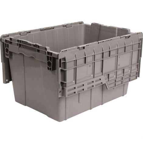 "Flipak® Polyethylene Plastic (PE) Distribution Containers - Outside Dimensions Top: 21.8""L x 15.2""W - Case/Qty: 4"