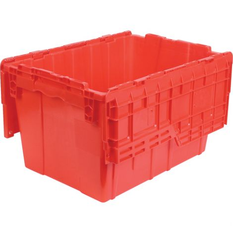 "Flipak Polyethylene Plastic (PE) Distribution Container - Outside Dimensions - 21.8""L x 15.2""W x 12.9""H - Case/Qty: 4"