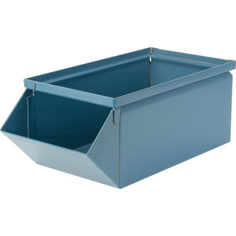 """Steel Stackbins® - 7-1/2""""W x 15-1/2""""L x 6""""H - Case Qty: 4"""