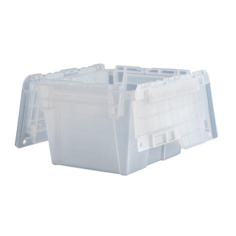 "Flipak® Clear Polypropylene Plastic (PP) Distribution Containers -  7.7""H x 11.8""L x 9.8""W - Case/Qty: 4"