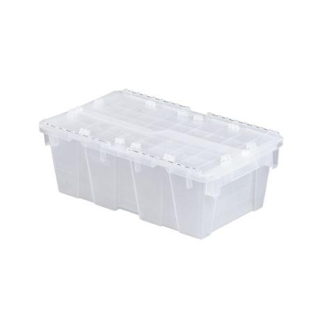"Flipak® Clear Polypropylene Plastic (PP) Distribution Containers -  7.3""H x 19.7""L x 11.8""W - Case/Qty: 3"