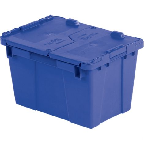 "Flipak Polyethylene Plastic (PE) Distribution Container - Outside Dimensions Top: 15.2""L x 10.9""W - Case/Qty: 4"