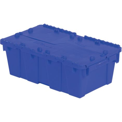 "Flipak Polyethylene Plastic (PE) Distribution Container - Outside Dimensions Top: 19.7""L x 11.8""W - Case/Qty: 6"
