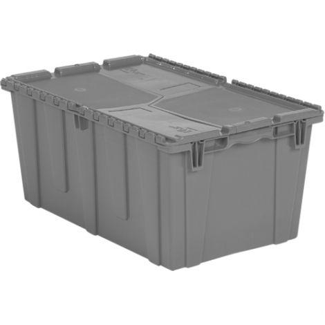"Flipak® Polyethylene Plastic (PE) Distribution Containers - Outside Dimensions Top: 26.9""L x 16.9""W - Case/Qty: 3"