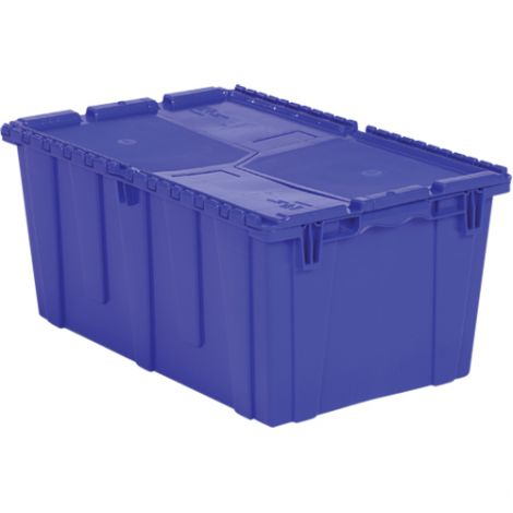 "Flipak® Polyethylene Plastic (PE) Distribution Containers Colour: Blue Height: 12.1"" Length: 26.9"" Width: 16.9"" - Case/Qty: 3"