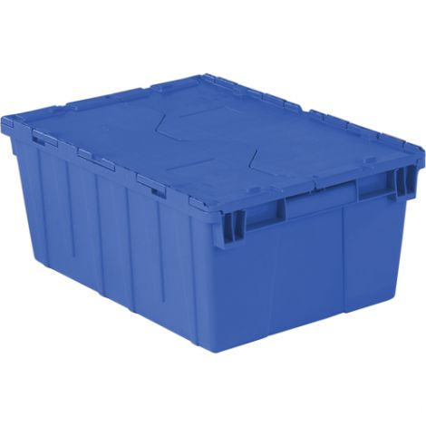 "Flipak Polyethylene Plastic (PE) Distribution Container - Outside Dimensions Top: 21.9""L x 15.2""W - Case/Qty: 4"