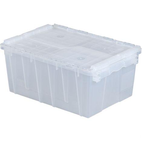 "Flipak® Clear Polypropylene Plastic (PP) Distribution Containers - 9.3""H x 21.8""L x 15.2""W - Case/Qty: 3"