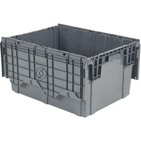 "Flipak® Polyethylene Plastic (PE) Distribution Containers - Outside Dimensions Top: 27.9""L x 20.9""W - Case/Qty: 2"