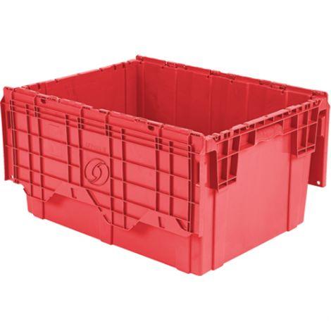 "Flipak Polyethylene Plastic (PE) Distribution Container - Outside Dimensions Top: 23.9""L x 19.6""W - Case/Qty: 3"
