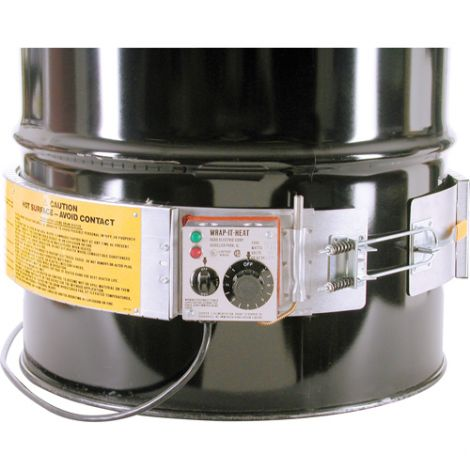 "Thermostat Control Heaters - Fits Drum Size: 16 US gal - Drum Diameter: 14.5"" - Thermostat Range: 60°F - 250°F"