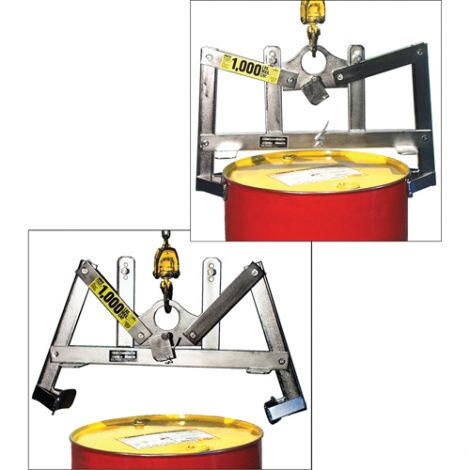 Automatic Vertical Drum Lifter - Lifts Drum Size Gallons: 45 - Stainless Steel
