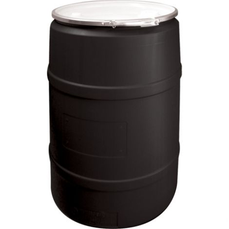 Black Polyethylene Drums - Drum Size: 55 US gal (45 imp. gal.) - Unlined / Open Top