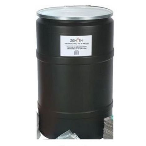 Black Polyethylene Drums - Drum Size: 55 US gal (45 imp. gal.) - Unlined / Open Top