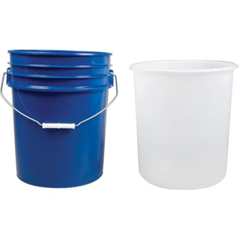 Inserts For 5-Gallon Steel Pails - Wall Thickness: 15 mil - Material: HDPE - Qty/Case: 100