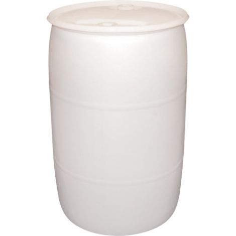 White Polyethylene Drums - Drum Size: 55 US gal (45 imp. gal.) Unlined / Closed Top