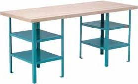 """Extra Heavy-Duty Workbenches - Pedestal Bench - Capacity: 2500 lbs. - Configuration: Shelf - Height: 34"""" - Width: 120"""""""